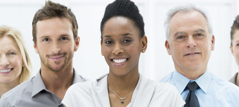 19339040 - happy smiling multi ethnic business team in office
